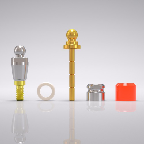 Picture of CONELOG® Ball abutment set Ø 3.8 mm, GH 1.5 mm