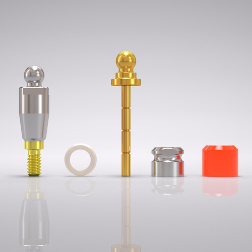 Picture of CONELOG® Ball abutment set Ø 3.8 mm, GH 3.0 mm