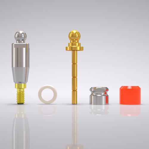 Picture of CONELOG® Ball abutment set Ø 3.8 mm, GH 4.5 mm