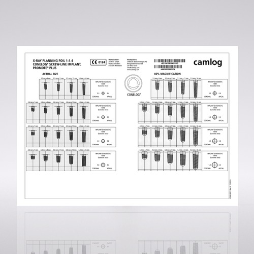 Picture of CONELOG® Planning, X-Ray foil, SCREW-LINE, 1:1.4