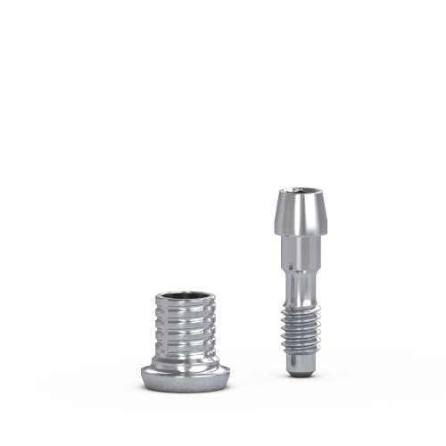 Picture of Flat Abut Narrow Short Ti Cylinder + Lab Screw