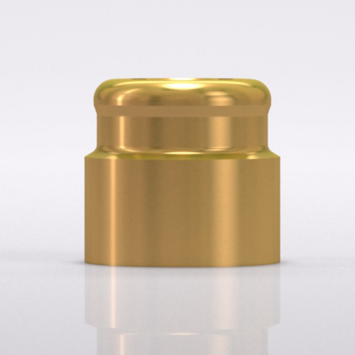 Picture of LOCATOR® fixture for bar abutment, for Ø 3.3/3.8/4.3 mm, titanuim alloy/TiN
