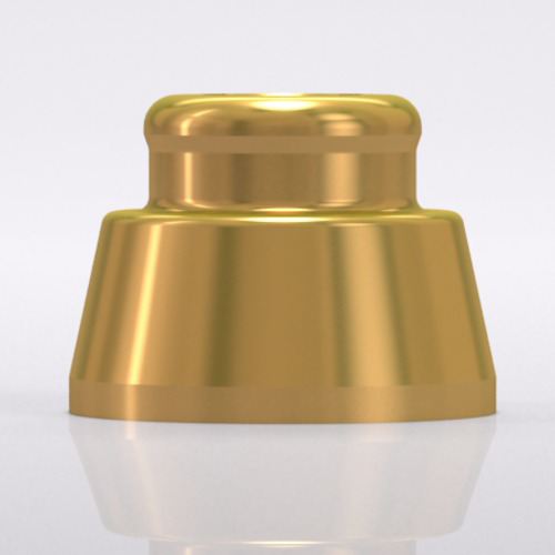 Picture of LOCATOR® fixture for bar abutment, for Ø 5.0/6.0 mm, titanuim alloy/TiN
