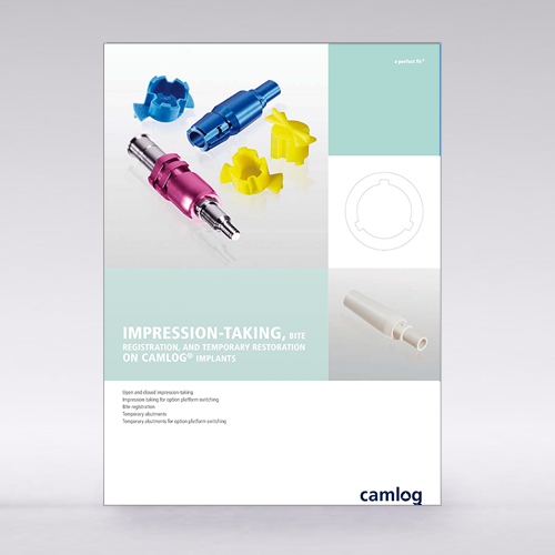 Picture of Impression taking, bite registration and temporary restoration on CAMLOG® Implants