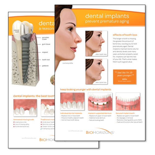 Picture of Dental Implants-Patient Ed. Posters, 2 pack