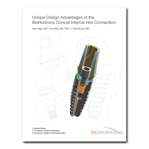 Picture of Unique Design Advantages of the BioHorizons Conical Internal Hex Connection