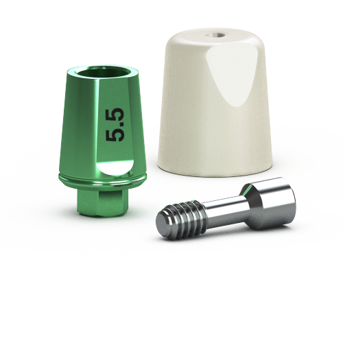 Picture of Single-stage 4.5mm Simple Solutions Abutment Pack, 5.5mm
