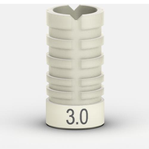 Foto de Funda para encerado pilar provisional a largo plazo, 3.0 mm (3 uds.)