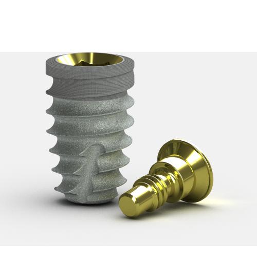 Picture of Tapered Short Implant, Laser-Lok, 4.6 x 7.5mm, 3.5mm Platform