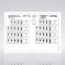 Picture of CONELOG® Planning, X-Ray foil, SCREW-LINE, 1:1.25