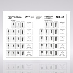 Picture of CAMLOG® Planning, X-Ray foil, SCREW-LINE, 1:1.25