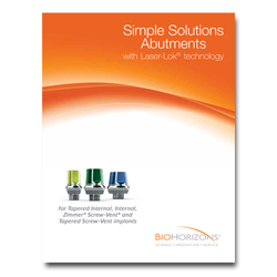 Picture of Simple Solutions Abutments with Laser-Lok Catalog and Manual