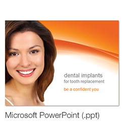 Picture of Dental implants overview presentation – French Language