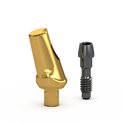 Picture of Gs 15º Angle Abutment 1mm cuff, w/ Retaining Screw