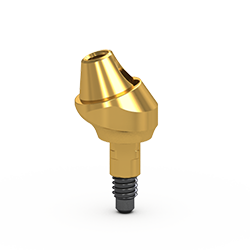 Picture of Gs Conic Angled Abutment, Standard, 17 Deg w/ Retaining Screw, 2mm Cuff