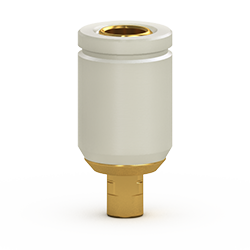 Picture of GOLD Peek-Ti Hybrid Straight Abutment